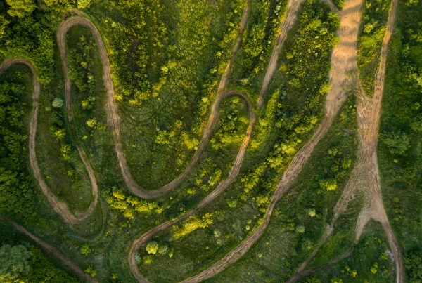 planning your ride, image of aerial view of atv trail